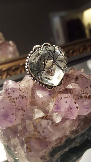 BIG RUTILE 925 QUARTZ RING (vintage style)❤️ size 6.5 for Sale in Queens, NY