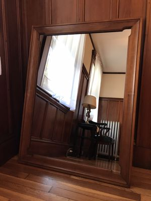 Wooden frame wall mirror for Sale in Watertown, MA