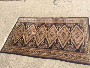 Blue field Persian rug hand tied for Sale in Whittier, CA