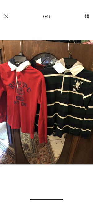 2 Polo Ralph Lauren Boys Cotton Hooded Rugby Shirt Choose Size S/p8 Excellent for Sale in Bethesda, MD
