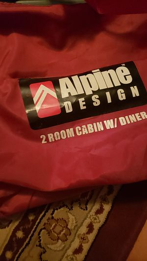 2 Camping tent alpine design and sleeping bags for Sale in Westbury, NY