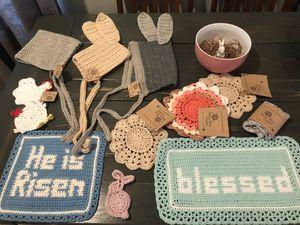 VaHandmade by me: Mama Mae Crochet - crocheted pieces - bunny bonnets, centerpieces, dishcloths, bunnies, etc for Sale for sale  Phoenix, AZ