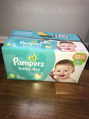 $19 Pampers baby-dry size 4 -92 ct box NEW UNOPENED for Sale in Silver Spring, MD