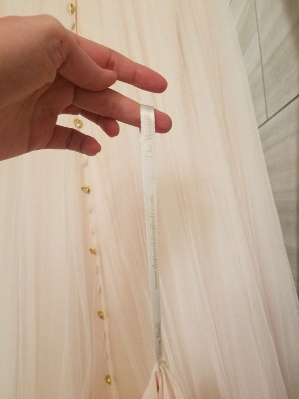 Wedding dress, size 8, peony (blush) & ivory. Free veil!