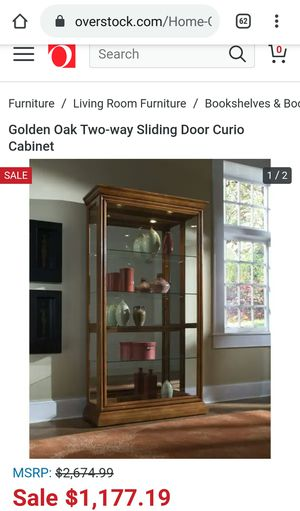 Large and heavy curio cabinet for Sale in Saint Charles, MI