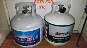 2 Propane tanks (mostly empty) $10 for Sale in Everett, WA