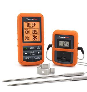 Wireless Remote Digital Cooking Food Meat Thermometer with Dual Probe for Smoker Grill BBQ for Sale in Chatsworth, CA