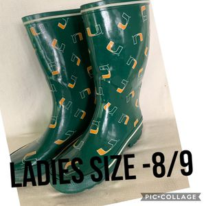 Miami rain boots. Size 8/9 for Sale in Wesley Chapel, FL
