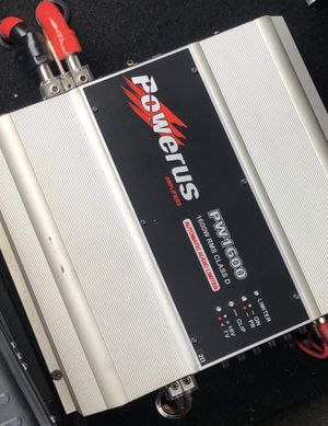 PowerUs Car Audio Amplifier 1600 watts rms ( The Most Powerfull ) for Sale in Dallas, TX