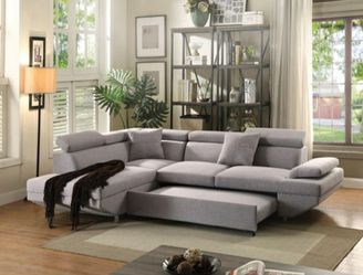 Sectional sofa w/Sleeper. $53 DOWN PAYMENT for Sale in Orlando,  FL