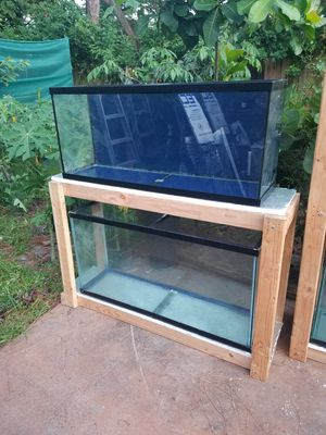 2-55gal and wood stand $300 for Sale in Fort Lauderdale, FL