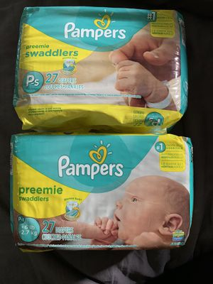 Pampers preemie for Sale in Delray Beach, FL