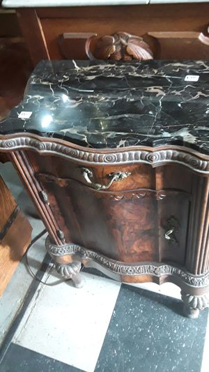 Antique Marble Top Cabinet for Sale in San Diego, CA