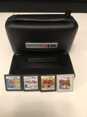 Nintendo 3DS Mario Games/Case/Charger! for Sale in Suffolk, VA