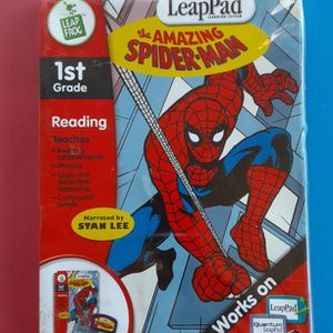 LeapPad Amazing Spider-man 1st Grade Reading Book w/Electronic Cartridge (New Opened Packet) L@@K!!! for Sale in Mesa, AZ