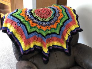 Hand crocheted baby blanket/throw for Sale in Sultan, WA