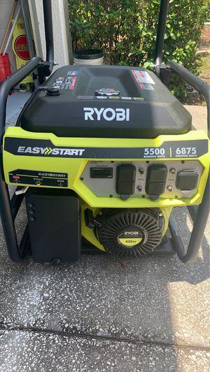 Generator, Ryobi, easy start, 5500. for Sale in Seffner, FL