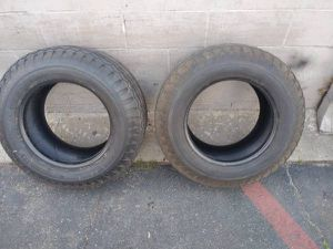 two old 9.50-16.5 bias ply tires. good for rollers or a cruising hotro for Sale in Montebello, CA