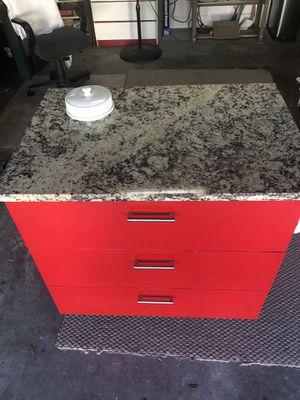 Granite top handmade kitchen island for sale for Sale in Orlando, FL