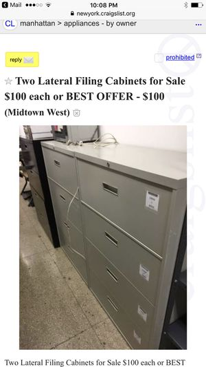 File cabinets for Sale in Jersey City, NJ