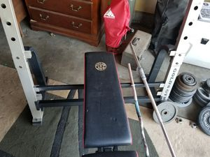 Weight bench,weights and bars for Sale in Citrus Heights, CA