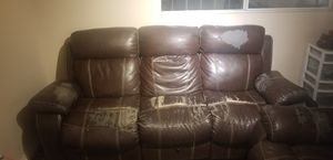 2 recliners sofa couches for Sale in Lemon Grove, CA