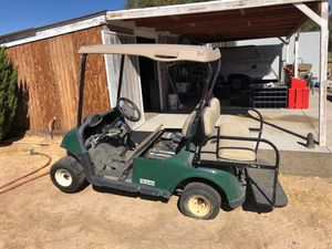 EXGO rxv GOLF CART. HAS GOOD ELECTRIC MOTOR 4 batteries. Attachable rear seat assumes. Needs work or good for spare parts for Sale in Hesperia, CA