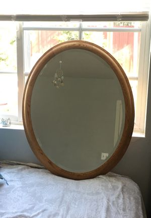 Wooden framed oval shaped mirror for Sale in Santa Ana, CA