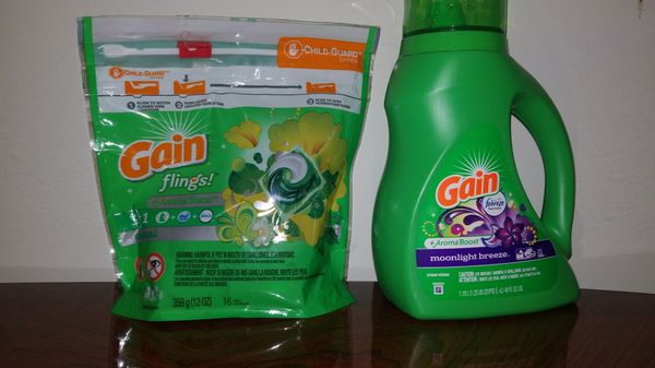 Tide and Gain Laundry Detergent Bundle