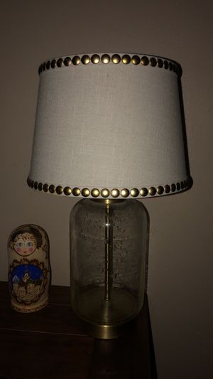 Clear Bubble Lamp with Studded Lamp Shade for Sale in Dearborn Heights, MI
