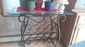 Glass top rod iron wine holder for Sale in Woburn, MA