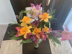 Multi colored flower arrangement for Sale in Alexandria, VA
