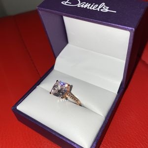 🧊 BRAND NEW!!! Daniels 925 sterling silver rose gold plated w/ Swarovski crystals on band... for Sale in Orange, CA