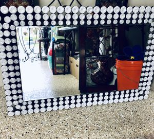 Amazing High-End Bling Bling Mirror! NEW 36x24 ( hangs either way) for Sale in Mokena, IL