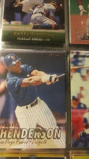 Rickey henderson baseball cards for Sale in Concord, CA