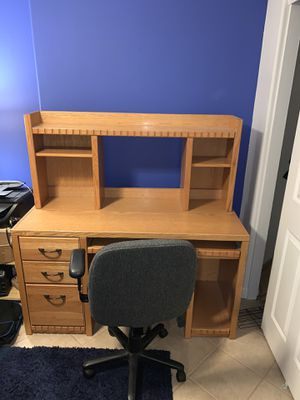 Desk, Oak and Chair - Need Gone! for Sale in Phoenix, AZ