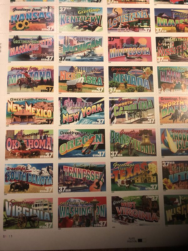Greetings from America Stamps