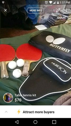 Table tennis rackets for Sale in Baltimore, MD
