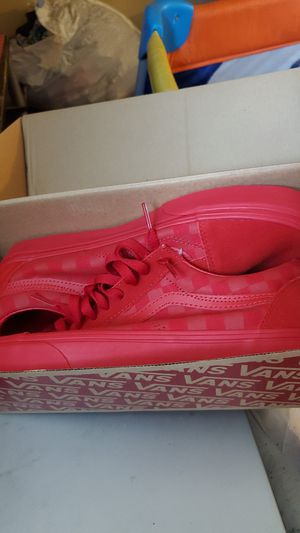 All Red Checked Board Van's Size 9 for Sale in PA, US