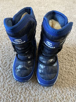 HOBIBEAR Kids Winter Snow Boots Waterproof Outdoor Warm Faux Fur Lined Shoes. Size 11.5 / 7 inch for Sale in Lehigh Acres, FL