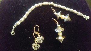 Set of Stainless Steel Bracelet and Earrings for Sale in Penn Hills, PA