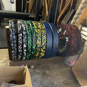 (Full Set) Rogue Fitness Fleck Bumper Weight Plates for Sale in Dublin, CA