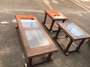 Vintages Coffee table and 2 lamps table for Sale in Houston, TX