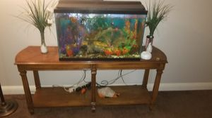 Fish tank with all decorations an accessories an convict fish for Sale in Paradise, NV