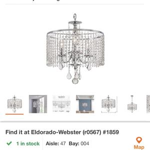 Home Decorators Collection Calisitti 3-Light Polished Chrome Chandelier with K9 Crystal Dangles for Sale in Houston, TX