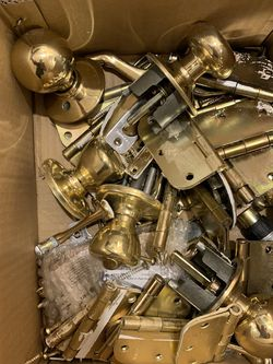 Free - Box of Brass Hardware for Sale in Seattle,  WA