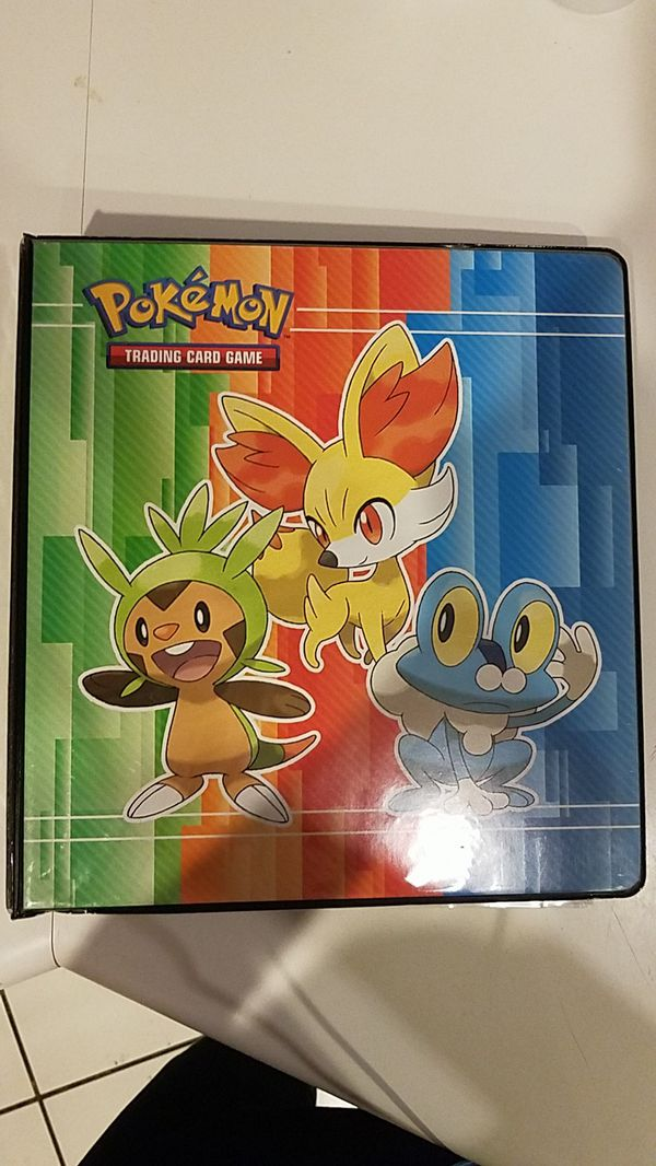 Pokemon card binder with card inserts
