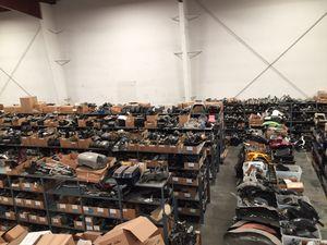 Warehouse Full Of Motorcycle Parts In Fontana For Harley Davidson, Honda, Yamaha, Kawasaki, Suzuki, Ducati, Triumph Fairing Motor Engine Wheel Rim Mu for Sale in Fontana, CA