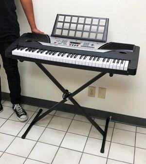 Brand New $75 Music Electric Keyboard Digital 61 Key Piano Beginner Organ w/ Stand for Sale in Downey, CA