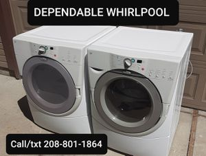 WHIRLPOOL DUET FRONT LOAD WASHER AND DRYER SET, DELIVERY WARRANTY for Sale in Boise, ID